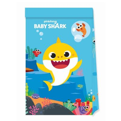 4 sacs cadeaux en papier FSC de Baby Shark | jourdefete.com