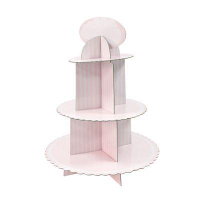 Présentoir à Cupcakes - Baby Shower - Rose | jourdefete.com