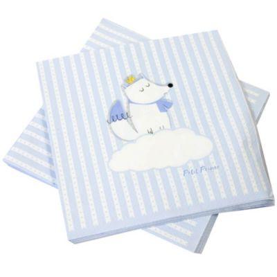 20 Serviettes en Papier - Baby Shower - Renard Bleu | jourdefete.com