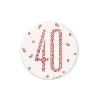 badge-anniversaire-age-rose-gold | jourdefete.com