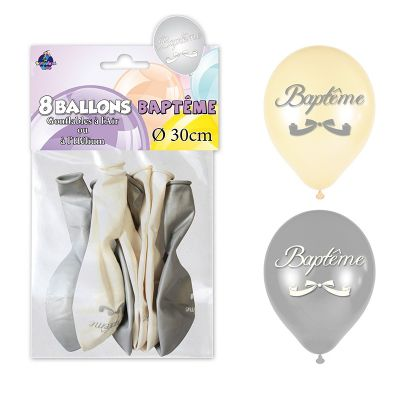 "8 Ballons ""Baptême"""
