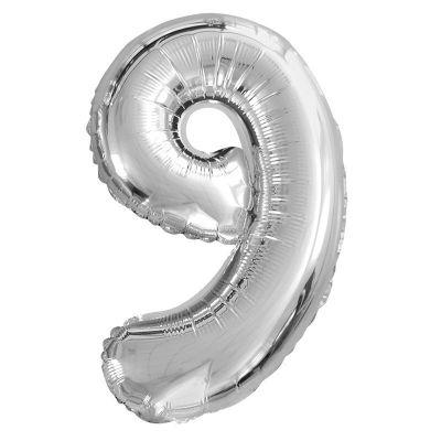 ballon à air chiffre au choix de 40 cm argent   jourdefete.com