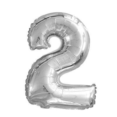ballon à air chiffre de 66 cm argent | jourdefete.com