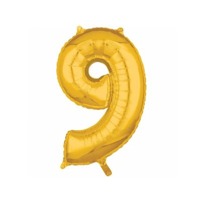 ballon à air chiffre de 40 cm doré   jourdefete.com
