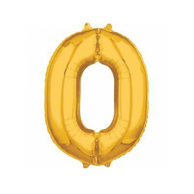 ballon à air chiffre de 66 cm doré | jourdefete.com