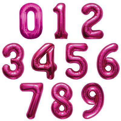 ballon à air chiffre au choix de 66 cm rose | jourdefete.com