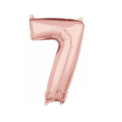 ballon à air chiffre au choix de 40 cm rose gold | jourdefete.com