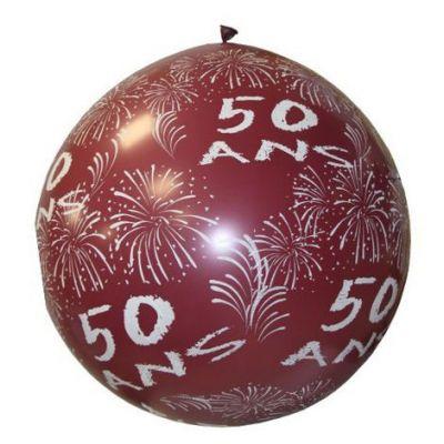 """Ballon de Baudruche Géant """"50 ans"""" 1 mètre - Coloris au choix"""