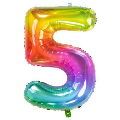 ballon chiffre de 81 cm multicolore | jourdefete.com