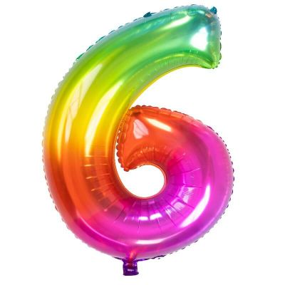 ballon chiffre de 81 cm multicolore   jourdefete.com