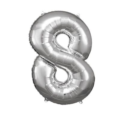ballon geant aluminium helium argent chiffre au choix   jourdefete.com