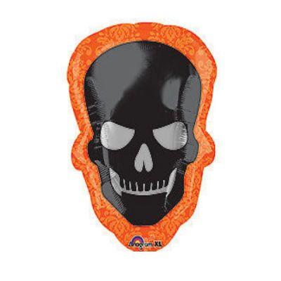Ballon Hélium Halloween Tête de Mort
