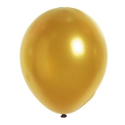50 Ballons de Baudruche Métallisés Or