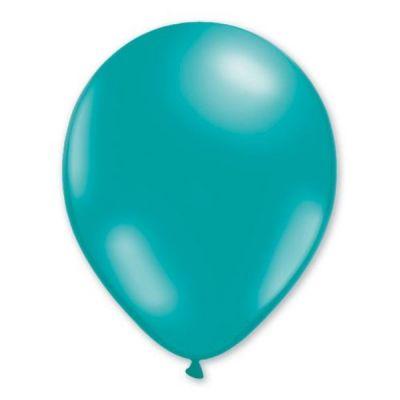 50 Ballons de Baudruche Métallisés Turquoise