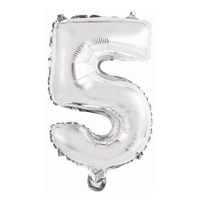 ballon metal a air couleur argent chiffre au choix | jourdefete.com