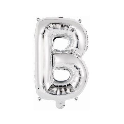 ballon metal a air couleur argent lettre au choix   jourdefete.com