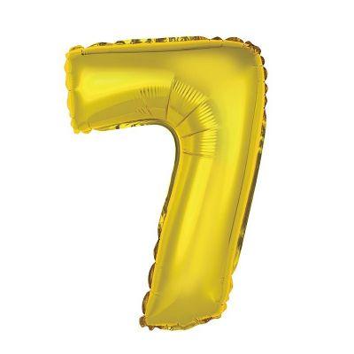 ballon métallique à air or de 36 cm chiffre 7 | jourdefete.com