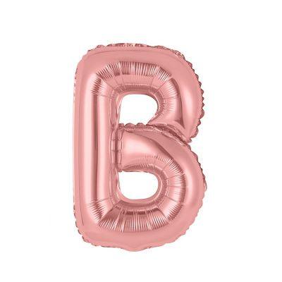 ballon métallique à air rose gold de 36 cm lettre au choix | jourdefete.com