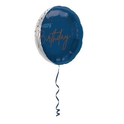 ballon mylar transparent bleu pour anniversaire | jourdefete.com