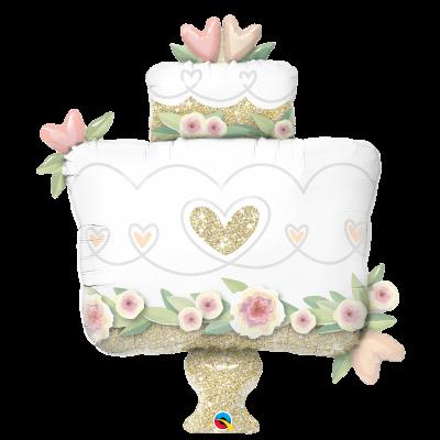 Ballon Métallique Hélium - Gâteau de Mariage