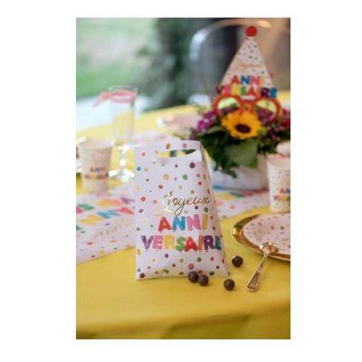 10 sachets anniversaire ballons multicolores | jourdefete.com