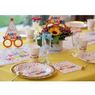 20 serviettes anniversaire ballons multicolores | jourdefete.com