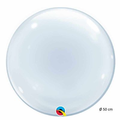 Ballon Hélium Bubble Transparent - 50 cm