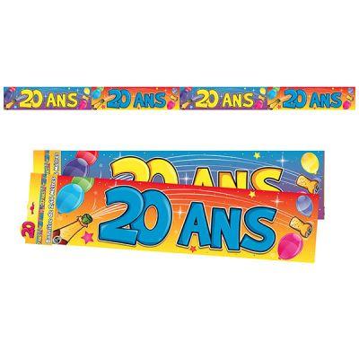 """Bannière """"20 ans"""""""