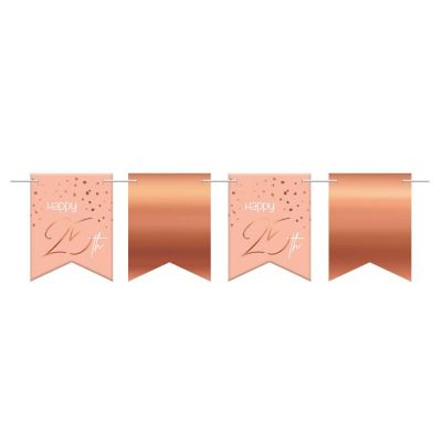 banniere de fanions rose gold pour anniversaire | jourdefete.com