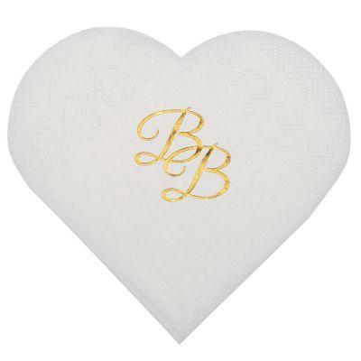serviettes-babyshower-bapteme-blanc-or jourdefete.com