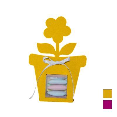 """Boîte à Dragées Pot de Fleur """"Vitamine"""" Coloris au Choix"""