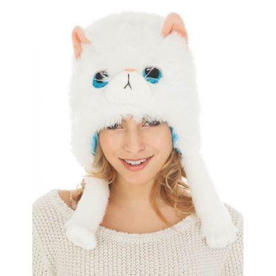 Bonnet Chat - Blanc | jourdefete.com