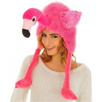 bonnet-flamant-rose-peluche | jourdefete.com