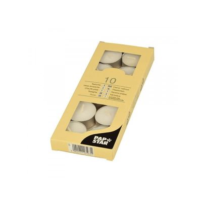 10 Bougies Chauffe-Plats - Blanc | JOURDEFETE.COM