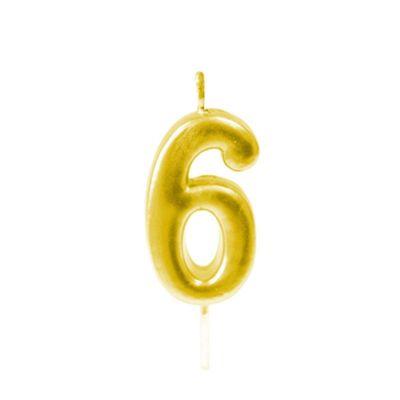 bougie-or-metallise-anniversaire   jourdefete.com