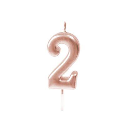 bougie-chiffre-anniversaire-rose-gold | jourdefete.com