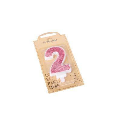 bougie à paillettes rose gold chiffre au choix | jourdefete.com