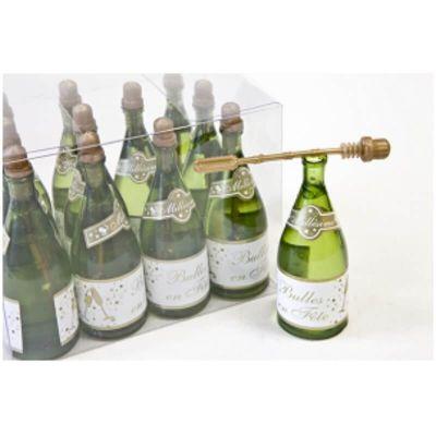 Coffret de 12 Tubes à Bulles Bouteille de Champagne