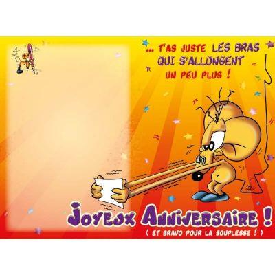 """Carte d'Anniversaire Grand Format avec Enveloppe - """"Coup de Vieux"""""""