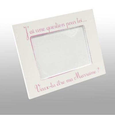 Cadre Photo Veux-tu être ma Marraine - Rose   jourdefete.com
