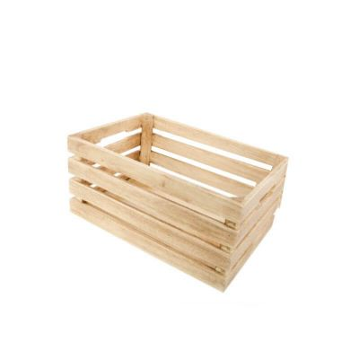 Cagette en bois naturel - Grande