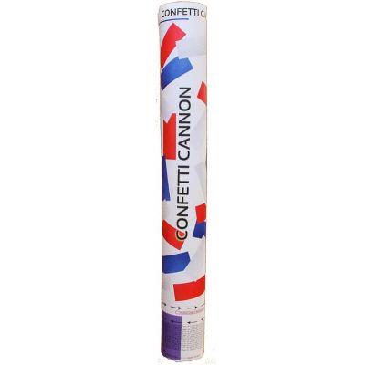 canon à confettis  papier tricolore bleu blanc rouge de 40 cm   jourdefete.com