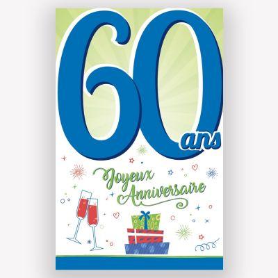 Carte d'Anniversaire Découp'âge Femme avec enveloppe - 60 ans   jourdefete.com