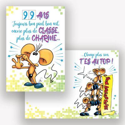 """Carte d'Anniversaire Grand Format avec Enveloppe - """"Classe et Charme"""""""