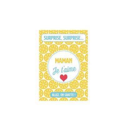 carte à gratter simple modèle au choix maman ou papa je t'aime | jourdefete.com