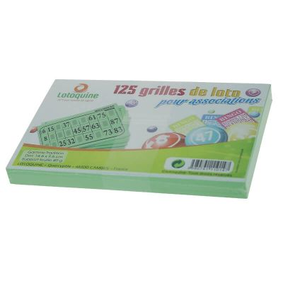 Pack 125 Cartons Souples de Loto - Vert