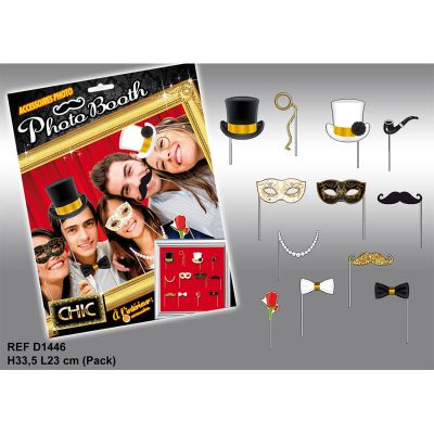 Pack Photo Booth Chic - 12 accessoires