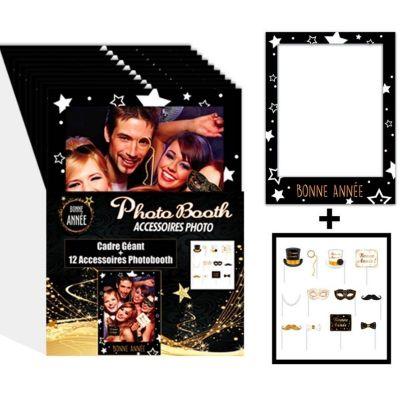 Cadre Photobooth Géant avec Accessoires - Bonne Année