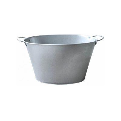 grande bassine avec poignees en zinc | jourdefete.com