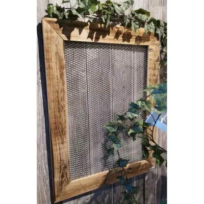 cadre en bois avec grillage | jourdefete.com